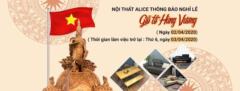 Nội thất Alice thông báo nghỉ lễ Giỗ Tổ Hùng Vương